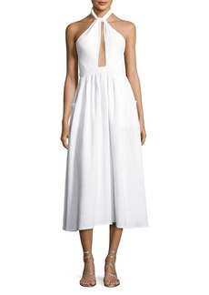 Mara Hoffman Halter-Neck Coverup Midi Dress