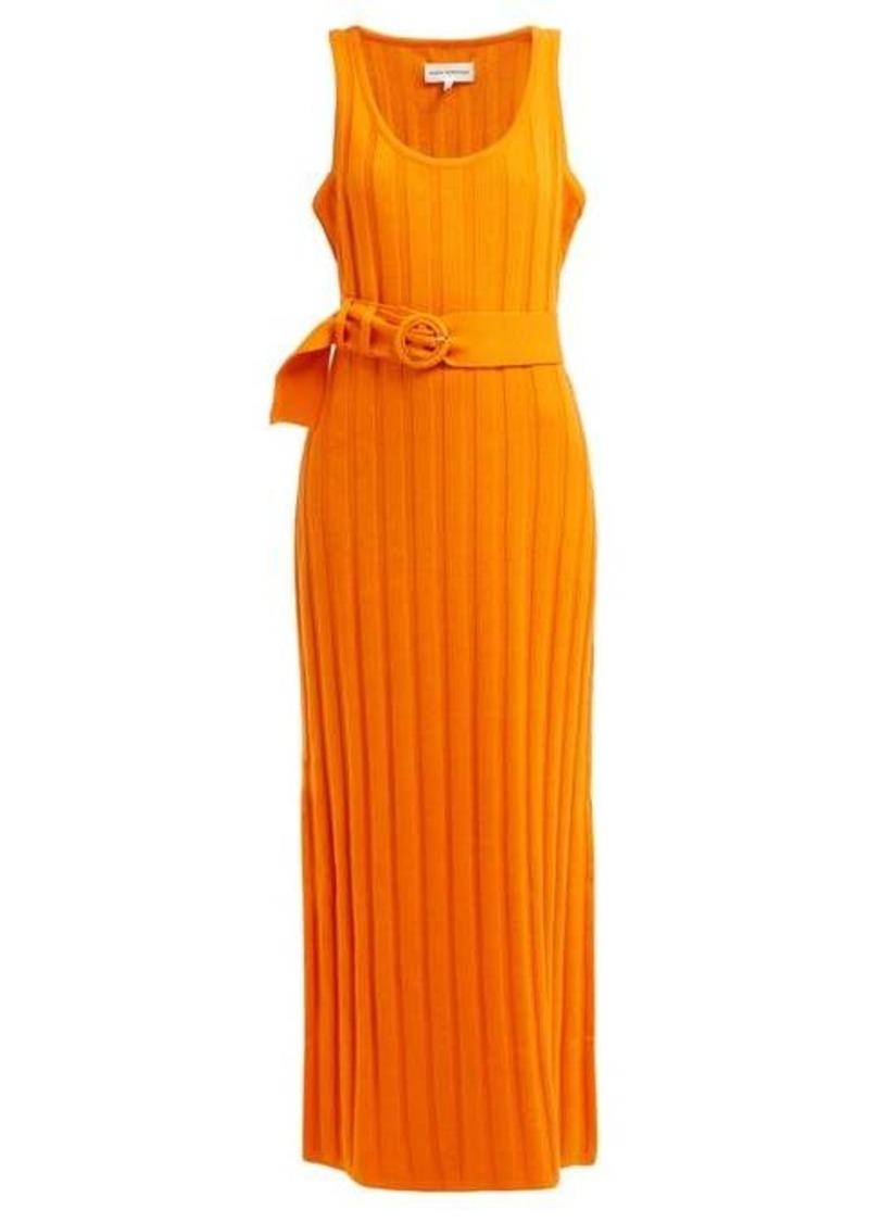 Mara Hoffman Harlow ribbed cotton midi dress