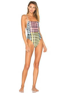Mara Hoffman High Cut One Piece in Yellow. - size L (also in M,S,XS)