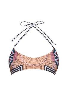 Mara Hoffman Ikat-print multi-strap reversible bikini top