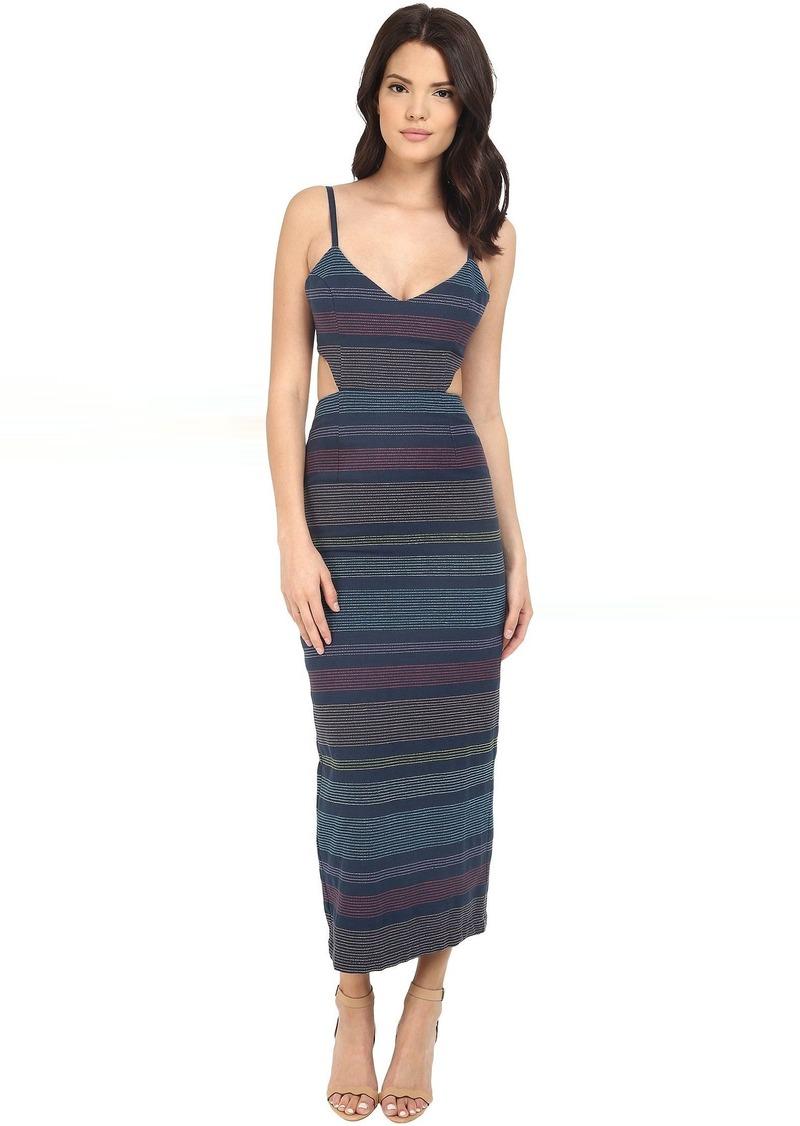 Mara Hoffman Indigo Embroidered Cut Out Dress