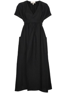 Mara Hoffman Ingrid Wrap Midi Dress - Black