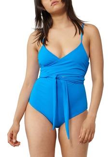 Mara Hoffman Isolde Tie Front One-Piece Swimsuit