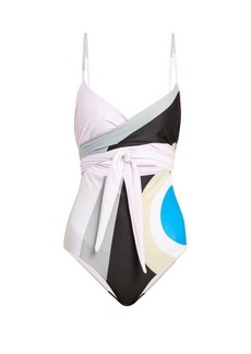 Mara Hoffman Isolde wrapover cut-out swimsuit
