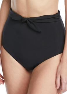 Mara Hoffman Jay High-Waist Tie-Front Swim Bikini Bottoms