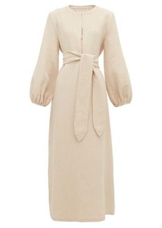 Mara Hoffman June belted-waist cotton-blend dress
