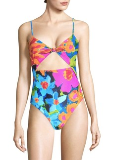 Mara Hoffman Kia Tie Front One-Piece Swimsuit