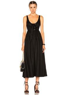 Mara Hoffman Lace Up Midi Dress