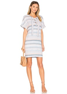 Mara Hoffman Lace Up Mini Dress in Blue. - size M (also in S,XS)