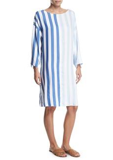 Mara Hoffman Larkin Striped Long-Sleeve Dress