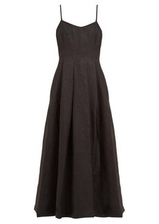 Mara Hoffman Lauren panelled linen midi dress