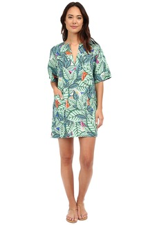 Mara Hoffman Leaf Mini Dress Pocket