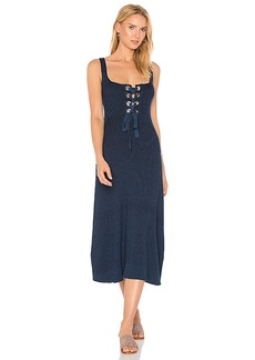 Mara Hoffman Lena Midi Dress in Navy. - size L (also in M,S,XS)
