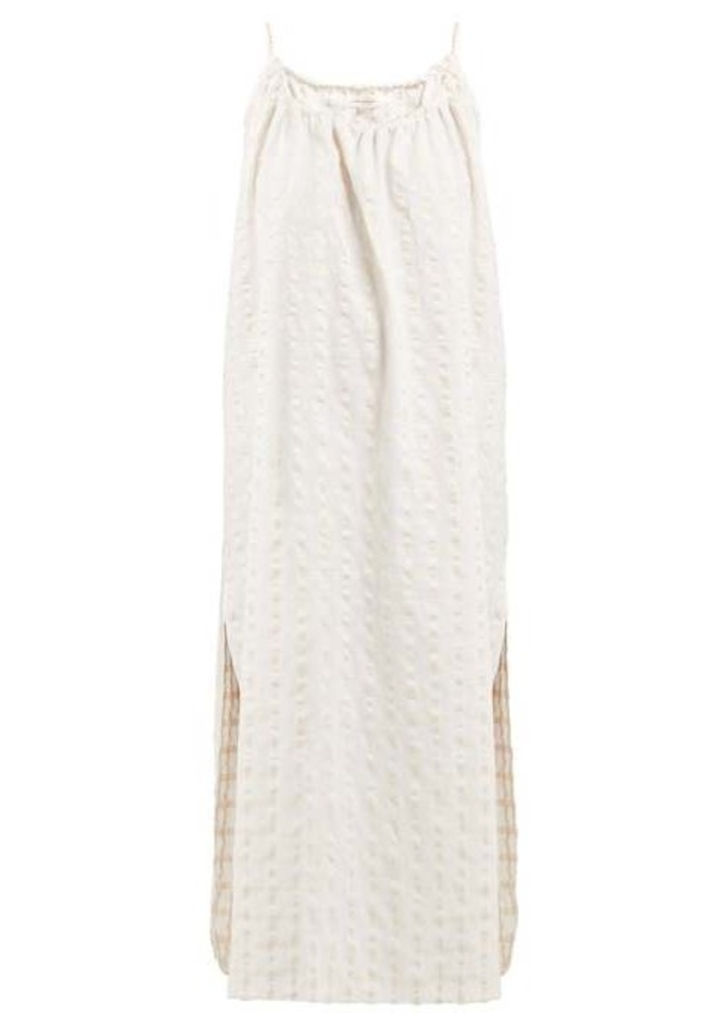 Mara Hoffman Lexi cotton-seersucker midi dress