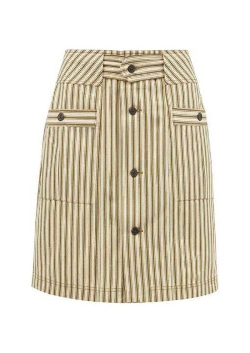 Mara Hoffman Lici patch-pocket striped midi skirt