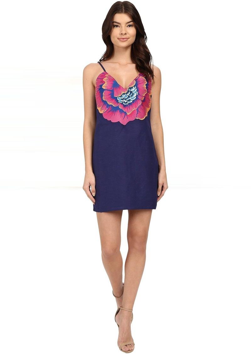 Mara Hoffman Linen Embroidered V-Neck Dress