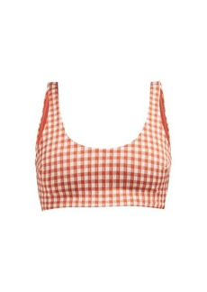 Mara Hoffman Lira checked scoop-neck bikini top