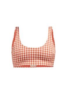 Mara Hoffman Lira checked scoop-neck bikini top