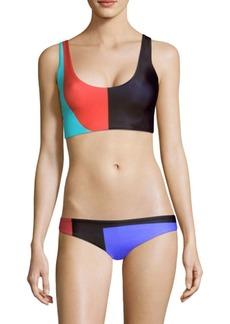 Mara Hoffman Lira Color Block Bikini Top