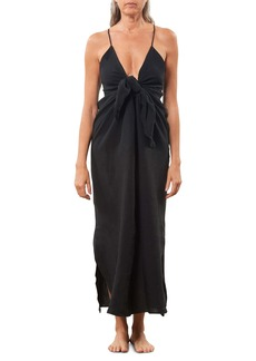 Mara Hoffman Lolita Linen Cover-Up Maxi Dress