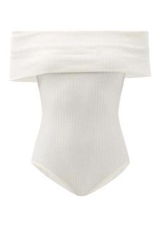 Mara Hoffman Lorraine off-the-shoulder ribbbed jersey bodysuit