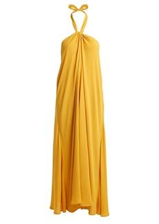 Mara Hoffman Lucille halterneck woven maxi dress
