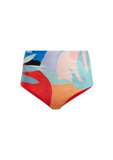 Mara Hoffman Lydia agave-print high-rise bikini briefs
