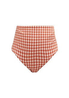 Mara Hoffman Lydia checked high-rise bikini briefs