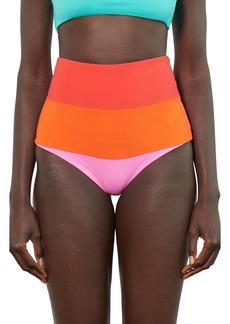 Mara Hoffman Lydia High-Waist Bikini Bottoms