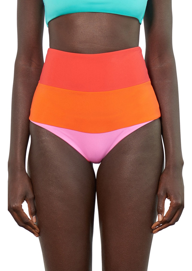 319e31620ee3f Mara Hoffman Mara Hoffman Lydia High-Waist Bikini Bottoms Now $104.98