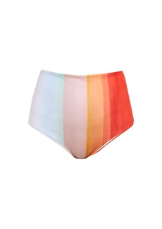 Mara Hoffman Lydia striped high-rise bikini briefs