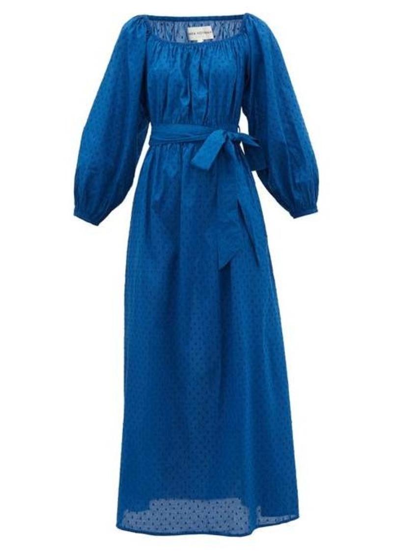 Mara Hoffman Malika square-neck fil-coupé cotton dress