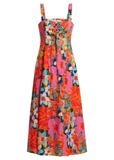Mara Hoffman Mei abstract floral-print lace-up dress