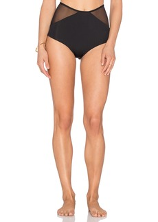 Mara Hoffman Mesh Combo High Waist Bikini Bottom