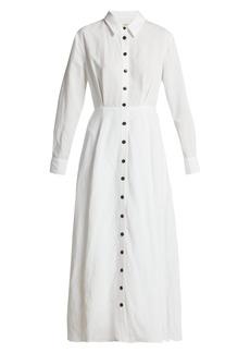 Mara Hoffman Michelle Tencel® Lyocell and linen midi dress