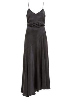 Mara Hoffman Nina bias-cut satin dress