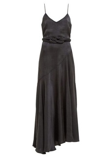 Mara Hoffman Nina bias-cut satin dress