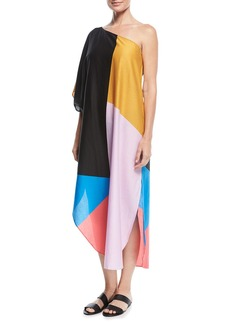 Mara Hoffman Noa One-Shoulder Caftan Coverup
