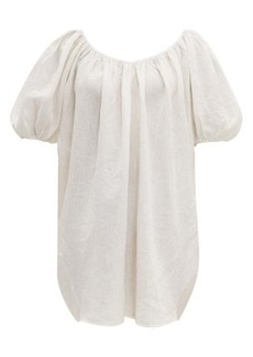 Mara Hoffman Odine puff-sleeve linen dress