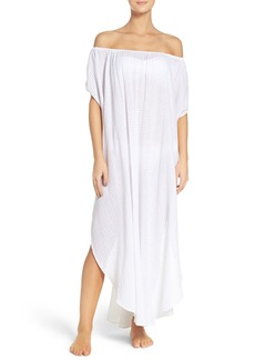 Mara Hoffman Off the Shoulder Cover-Up Dress