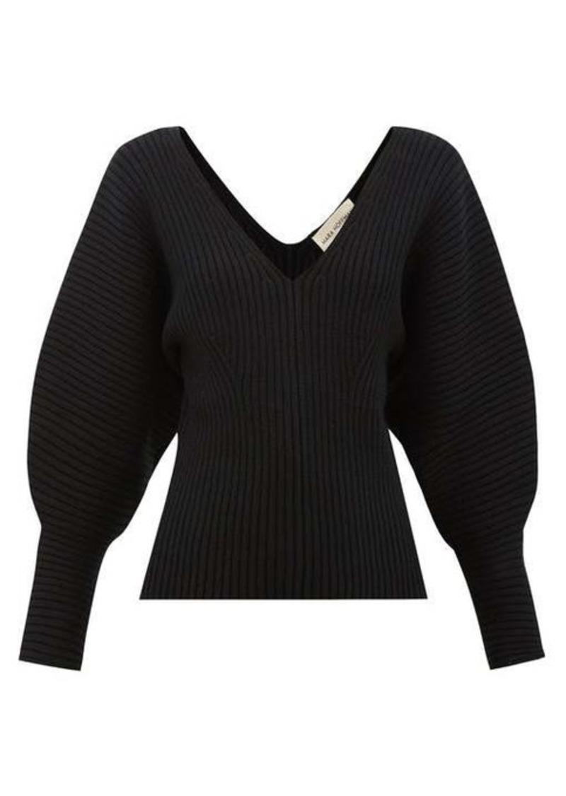 Mara Hoffman Olla V-neck organic cotton-blend sweater