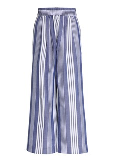 Mara Hoffman Paloma Striped Cotton-Blend Wide-Leg Pants