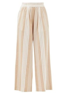 Mara Hoffman Paloma striped Tencel-blend trousers