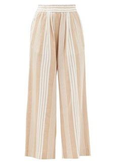 Mara Hoffman Paloma striped Tencel-blend trousers