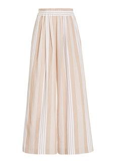 Mara Hoffman Paloma Striped Tencel-Cotton Wide-Leg Pants