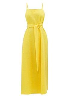 Mara Hoffman Philomena belted cotton-blend slip dress