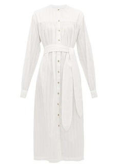 Mara Hoffman Priscilla belted organic-cotton shirtdress