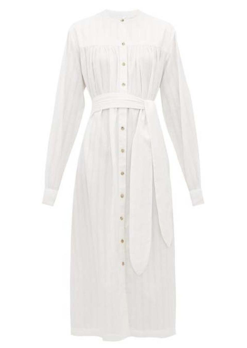 Mara Hoffman Priscilla belted organic-cotton shirtdress