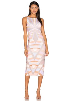 Mara Hoffman Prism V-Back Midi Dress