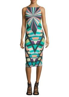 Mara Hoffman Prism V-Back Sheath Dress